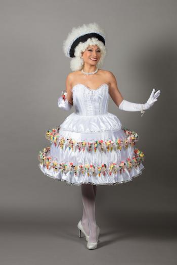 Robe bonbon blanche