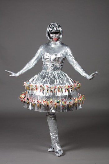 Robe bonbon futuriste