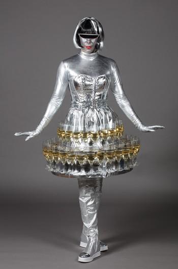 Robe champagne futuriste