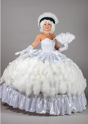 Grande robe barbapapa blanche