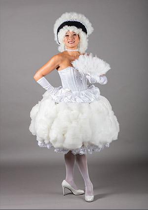 Petite robe barbapapa blanche