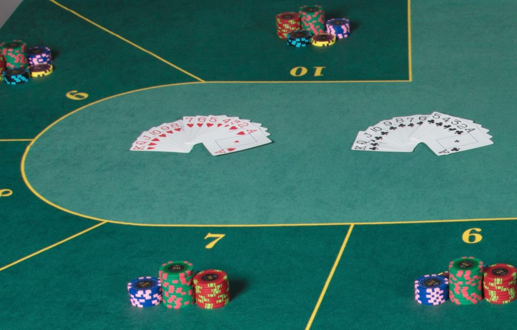 Tapis Poker Texas Hold'em Cartes Jetons