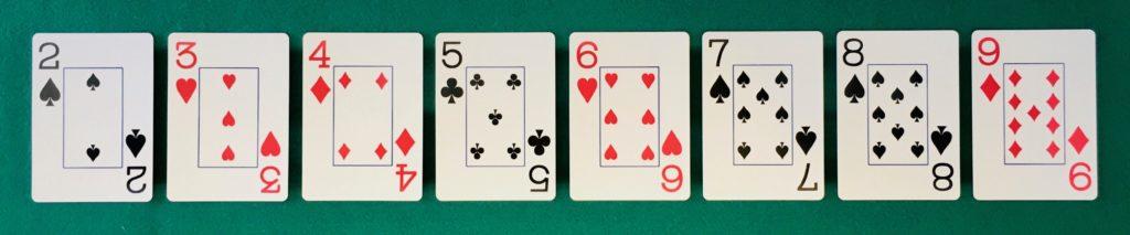 Cartes de Deux à Neuf Black Jack