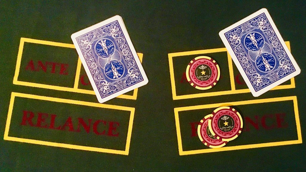 Fold Relance Caribbean Stud poker