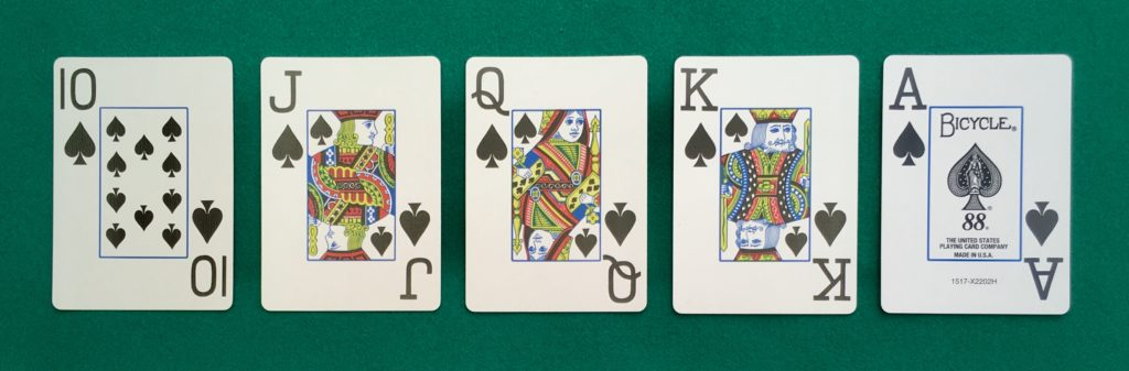 Main Poker Quinte Flush Royale